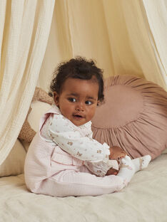 Baby girl overalls, bodysuit and socks with fancy print BOERINA / 21H0CFK1ENS301