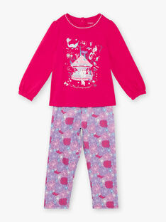 Fuchsia pyjama child girl ZEMARETTE / 21E5PF11PYJ304