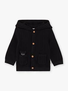 Baby Boy's Black Hooded Knitted Vest BADEAN / 21H1BG21GIL090