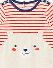 Baby boy beige romper with puppy pattern ZEBACHIR / 21E5BGH1GREA011