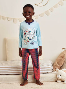 Boy's striped velvet pajama set BIPOLAGE / 21H5PG74PYJ213