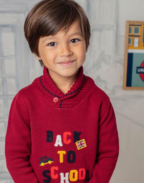 Baby boy's red long sleeve sweater BEBAGE / 21H3PG51PUL503