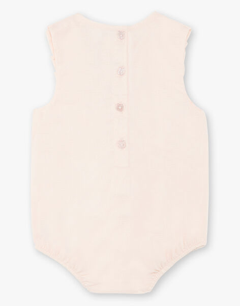 Pale pink textured cotton romper suit ZACHIARA / 21E1BFI1BARD319