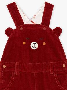 Baby boy teddy bear print overalls BALUCIEN / 21H1BGJ1SALI801