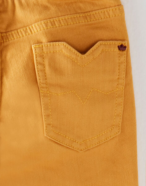 Golden yellow PANTS VARIAGE / 20H3PG62PAN106