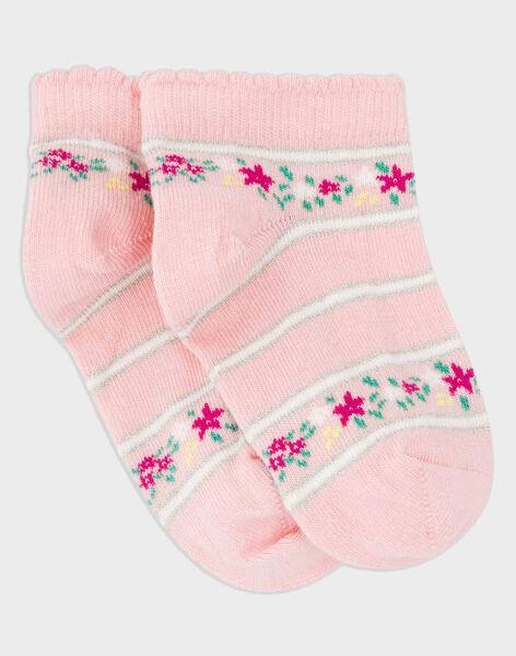 Clear pink Low socks RUIPIPETTE / 19E4PFP1SOB321