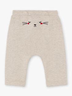 Baby girl beige jogging pants BAEMELINE / 21H1BF51JGBA011