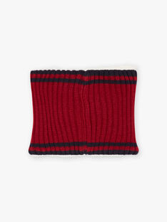 Baby boy two-tone furry snood BASNAGE / 21H4PGD2SNO503