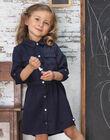 Child girl's ink blue safari dress BRORECETTE1 / 21H2PFB6ROBC214