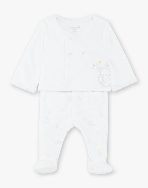 White overalls and vest set ZOMAEL / 21E0NMG3ENS000