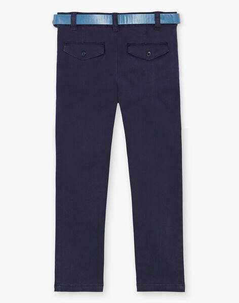 Navy blue pants for boys ZECROAGE / 21E3PGB3PAN070