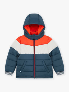 Baby boy's three-colored fleece lined parka BASIOTAGE / 21H3PGE1PARC230