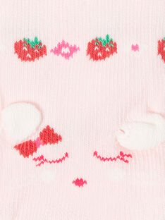 Pale rose LOW SOCKS ZAAYA / 21E4BFJ2SOB301