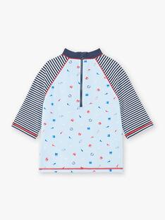 T-shirt anti-UV sky blue child boy ZYUVAGE / 21E4PGR2TUVC218