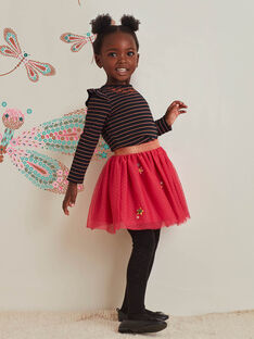 Baby girl pink tulle skirt with stars BRIDOUETTE / 21H2PFM1JUP308