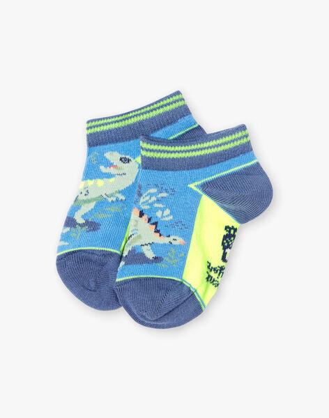 Baby boy two-tone dinosaur socks TUVROUAGE / 20E4PGX1SOBC232