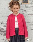 Girl's fuchsia knitted cardigan BRODIGETTE2 / 21H2PFB1CAR304