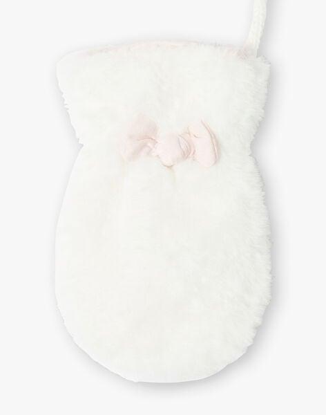 Chalk white mittens in faux fur ZAFLOU / 21E4BFM2GAN632