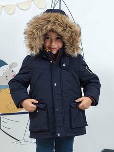 Baby boy's navy blue 3-in-1 waterproof parka BATOAGE / 21H3PGD2PAR070