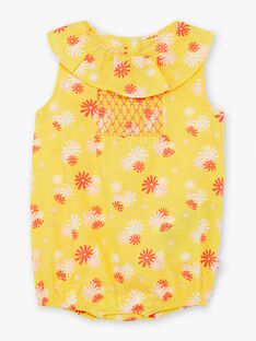 Baby girl yellow and red floral print romper TYGRACE / 20E1BFZ1BAR102