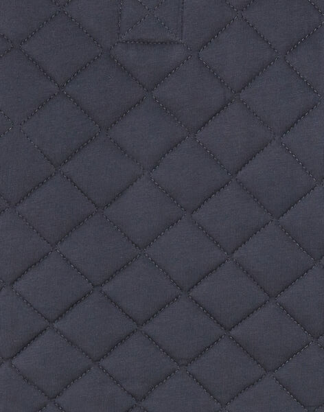 Charcoal gray zipped jacket in quilted jersey ZACESAR / 21E1BG91GILJ912