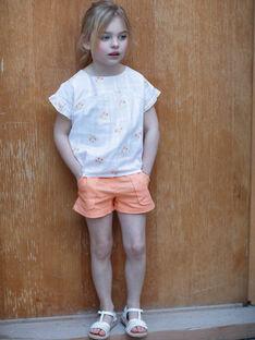 Orange shorts child girl ZIJOETTE / 21E2PFO1SHO406