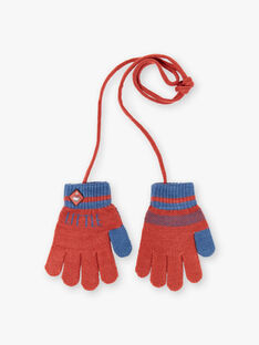 Blue and red knitted gloves ZAGANTAGE / 21E4PGM1GAN506