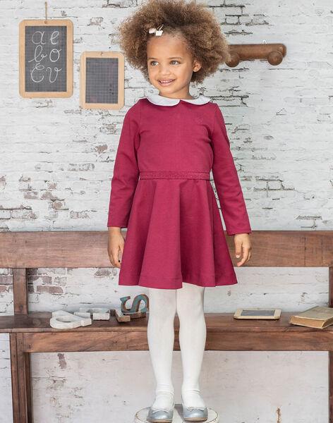 Girl's burgundy dress BROCOLETTE2 / 21H2PFB5ROB719