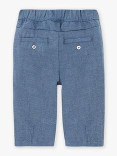 Baby girl blue flannel pants BAKILANE / 21H1BFL1PAN222