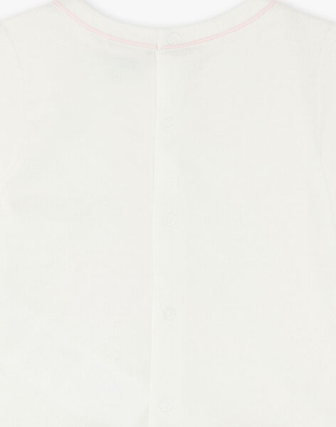 White T-shirt swan animation VAOCELIA / 20H1BFW1TML001