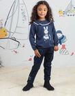 Child girl's denim paperpag pants BYJEANETTE / 21H2PFL1JEAP269
