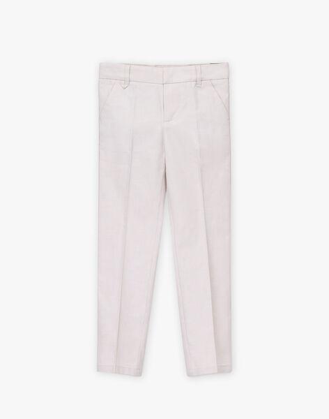 Light beige pants TICOAGE / 20E3PGJ1PAN808