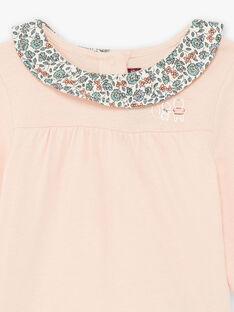 Baby girl pink bodysuit with printed collar BAOLIA / 21H1BFO1BODD300