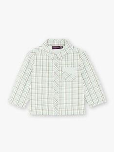 Fancy checkered shirt green and beige ZAADDY / 21E1BG71CHM009