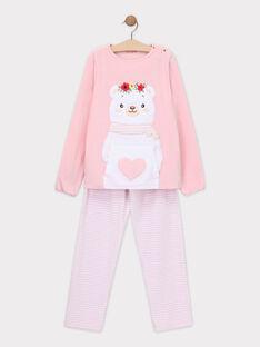 Baby rose Pajamas SYMANETTE / 19H5PFK6PYJ307