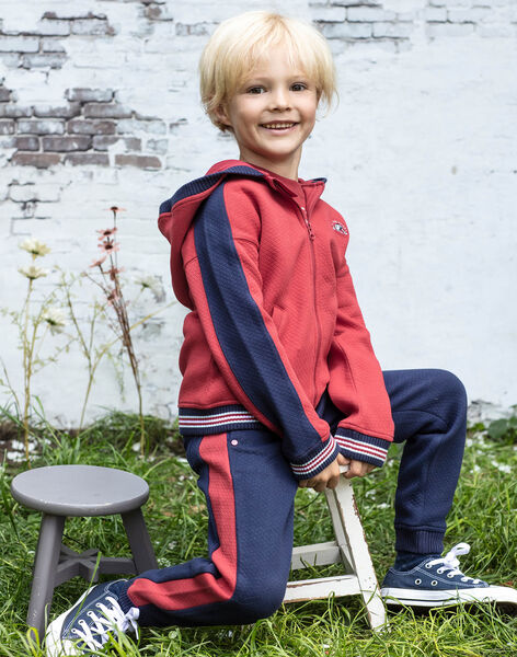 Baby boy's midnight blue and red jogging suit BADONAGE / 21H3PG13PAN720
