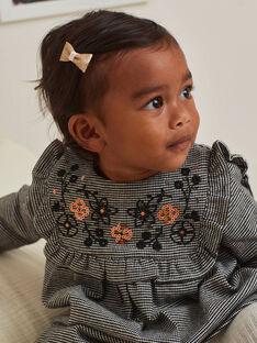 Baby girl houndstooth print dress BAMARION / 21H1BFM1ROB090