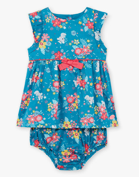 Duck blue and pink dress and bloomer with koalas and flowers print TAVANILLE / 20E1BFX1CHS210