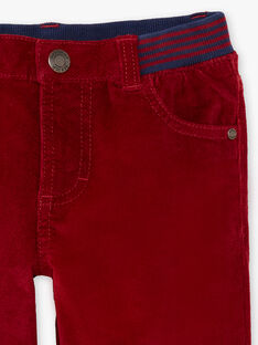 Boy's orange pants with inserts BUXUAGE2 / 21H3PGF3PANF527