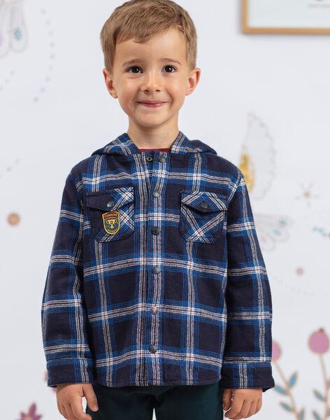 Boy's blue and black plaid hoodie BEXAGE / 21H3PG91SCH715