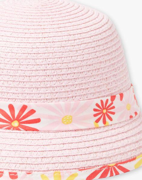Baby Girl Pink Straw Hat TYGWEN / 20E4BFZ1CHA312