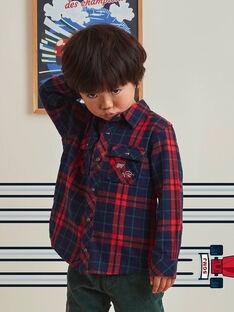 Baby Boy Red Tartan Shirt BOCHAGE / 21H3PGM1CHM001