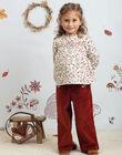 Girl's dark red wide-leg pants BUBLETTE / 21H2PFJ1PAN821