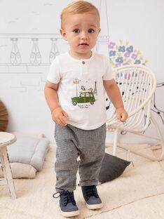 Baby boy white and green T-shirt BADAEL / 21H1BG21TMC632