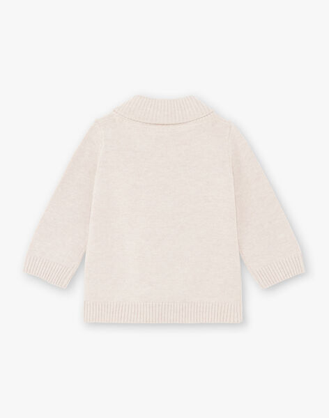 Baby Boy's Beige Teddy Bear and Rabbit Sweater BALOUIS / 21H1BGJ1PUL811