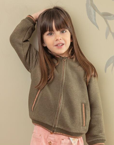 Khaki cardigan child girl ZASOETTE / 21E2PF71CAR604