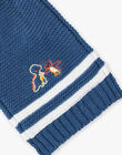 Knitted blue gentian scarf ZUBADOUR / 21E4BGM1ECHC230