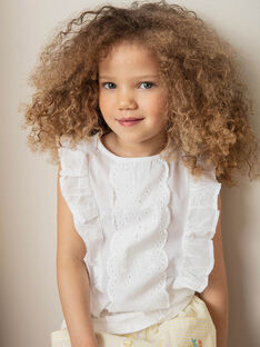White T-shirt child girl ZITIZETTE / 21E2PFO2TMC000