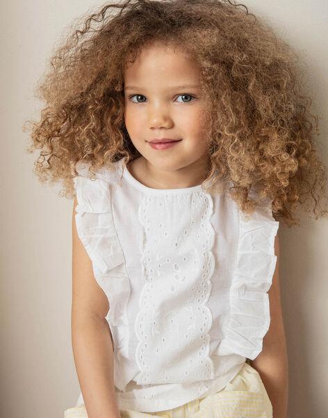 White T-shirt child girl ZITIZETTE / 21E2PFO2TMC000