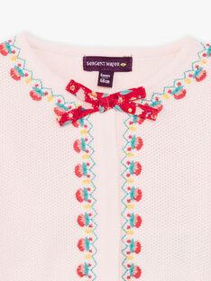 Baby girl pale pink vest TASUZIE / 20E1BFQ1CARD317